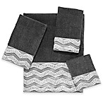 Avanti Chevron Galaxy Hand Towel in Granite