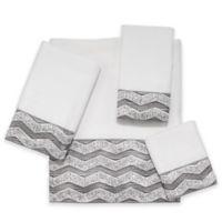 Avanti Chevron Galaxy Bath Towel in White