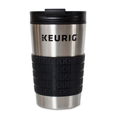 Keurig Thermal Travel Mug In Stainless Steel Black