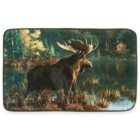 Back Bay Moose 21-Inch x 34-Inch Bath Rug