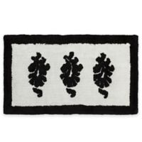 Nomad 21-Inch x 34-Inch Sculpted Bath Rug in White/Black