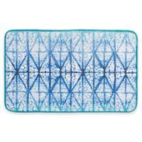 Shibori 12-Inch x 34-Inch Memory Foam Bath Rug in Indigo