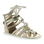 Stuart Weitzman® Baby Star Size 3-6M Strappy Sandal in Champagne Gold