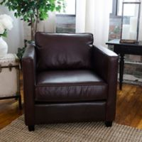 Elements Fine Home Furnishings Urban Leather Standard Arm Chair in Cappuccino