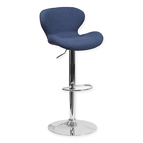 Buy Flash Furniture Fabric Adjustable Barstool In Blue