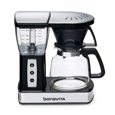 Bonavita 8-Cup Glass Carafe Coffee Brewer in Stainless Steel/Black - Bed Bath & Beyond