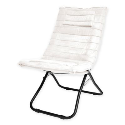 Idea Nuovo Memory Foam Dream Chair in White - Buy Folding Living Room Chairs From Bed Bath & Beyond
