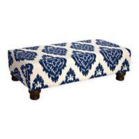 Skyline Furniture Hartsel Rectangle Ottoman in Diamond Blue
