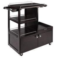 Winsome Trading Galen Entertainment Cart in Espresso