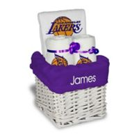 NBA Designs By Chad And Jake 3-Piece Los Angeles Lakers Small Gift Basket in White