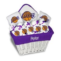 NBA Designs By Chad And Jake 8-Piece Los Angeles Lakers Large Gift Basket in White