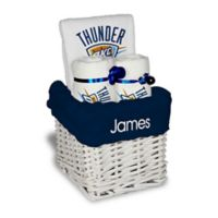 NBA Designs By Chad And Jake 3-Piece Oklahoma Thunder Small Gift Basket in White