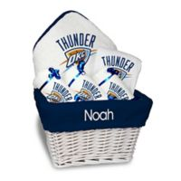 NBA Designs By Chad And Jake 5-Piece Oklahoma Thunder Medium Gift Basket in White