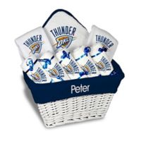 NBA Designs By Chad And Jake 8-Piece Oklahoma Thunder Large Gift Basket in White