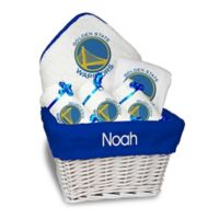 NBA Designs By Chad And Jake 5-Piece Golden State Warriors Medium Gift Basket in White
