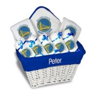 NBA Designs By Chad And Jake 8-Piece Golden State Warriors Large Gift Basket in White