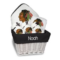 NHL Designs By Chad And Jake 5-Piece Chicago Blackhawks Medium Gift Basket in White