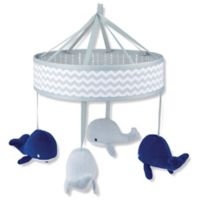 Wendy Bellissimo™ Mix & Match Whale Musical Mobile in Grey/Navy