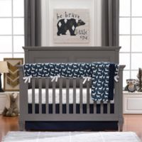 Liz and Roo Woodland Deer 3-Piece Crib Bedding Set in Navy