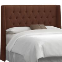 Skyline Furniture Abbie Wingback Full Headboard in Linen Chocolate