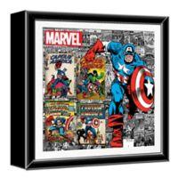 Captain America 13-Inch Shadow Box Wall Art
