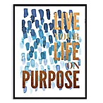 Live with Purpose  Framed Foil Embellished Canvas Wall Art