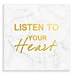 Listen To Your Heart  Foil Embellished Canvas Wall Art