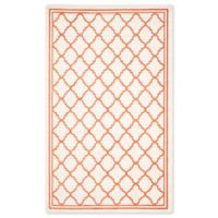 Safavieh Amherst 5-Foot x 8-Foot Quine Indoor/Outdoor Area Rug in Beige/Orange
