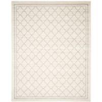 Safavieh Amherst 8-Foot x 10-Foot Quine Indoor/Outdoor Area Rug in Beige/Light Grey