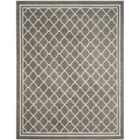 Safavieh Amherst 9-Foot x 12-Foot Quine Indoor/Outdoor Area Rug in Dark Grey/Beige