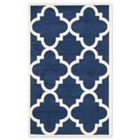 Safavieh Amherst 6-Foot x 9-Foot Geo Indoor/Outdoor Area Rug in Navy