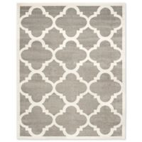 Safavieh Amherst 8-Foot x 10-Foot Geo Indoor/Outdoor Area Rug in Dark Grey