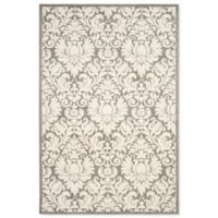 Safavieh Amherst 6-Foot x 9-Foot Medallion Indoor/Outdoor Area Rug in Dark Grey/Beige