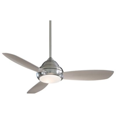 Buy brushed nickel ceiling fan with light from bed bath beyond minka aire concept i 44 inch ceiling fan in brushed nickel with aloadofball Choice Image