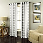 Spiral 84-Inch Grommet Top Window Curtain Panel in White