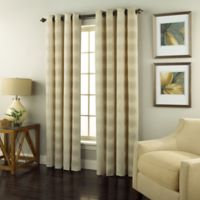 Spiral 84-Inch Grommet Top Window Curtain Panel in Ivory