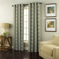 Spiral 108-Inch Grommet Top Window Curtain Panel in Spa