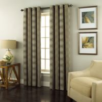 Spiral 84-Inch Grommet Top Window Curtain Panel in Medium Grey