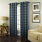 Spiral 84-Inch Grommet Top Window Curtain Panel in Indigo