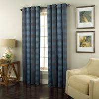 Spiral 95-Inch Grommet Top Window Curtain Panel in Indigo