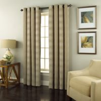 Spiral 84-Inch Grommet Top Window Curtain Panel in Beige