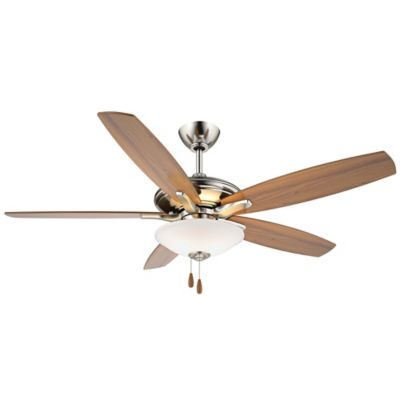 Buy brushed nickel ceiling fan with light from bed bath beyond minka aire mojo 52 inch ceiling fan in brushed nickel aloadofball Choice Image