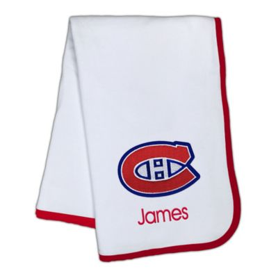 Personalized baby blankets from buy buy baby baby blankets designs by chad and jake nhl montreal canadiens personalized baby blanket negle Images
