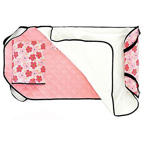 Urban Infant Poppies Tot Cot Toddler Nap Mat In Pink