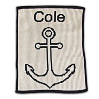 Butterscotch Blankees Anchor Blanket in Navy/Off White