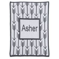 Butterscotch Blankees Arrows & Arrows Crib Blanket in Off White/Charcoal