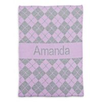 Butterscotch Blankees Argyle Crib Blanket in Lilac