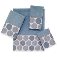 Avanti Dotted Circle Fingertip Towel in Mineral