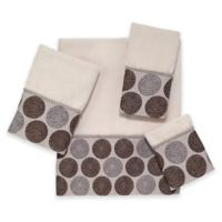 Avanti Dotted Circle Fingertip Towel in Ivory