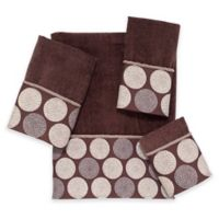 Avanti Dotted Circle Fingertip Towel in Mocha